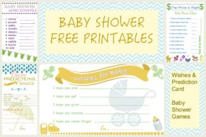 Free Printables for Baby shower games