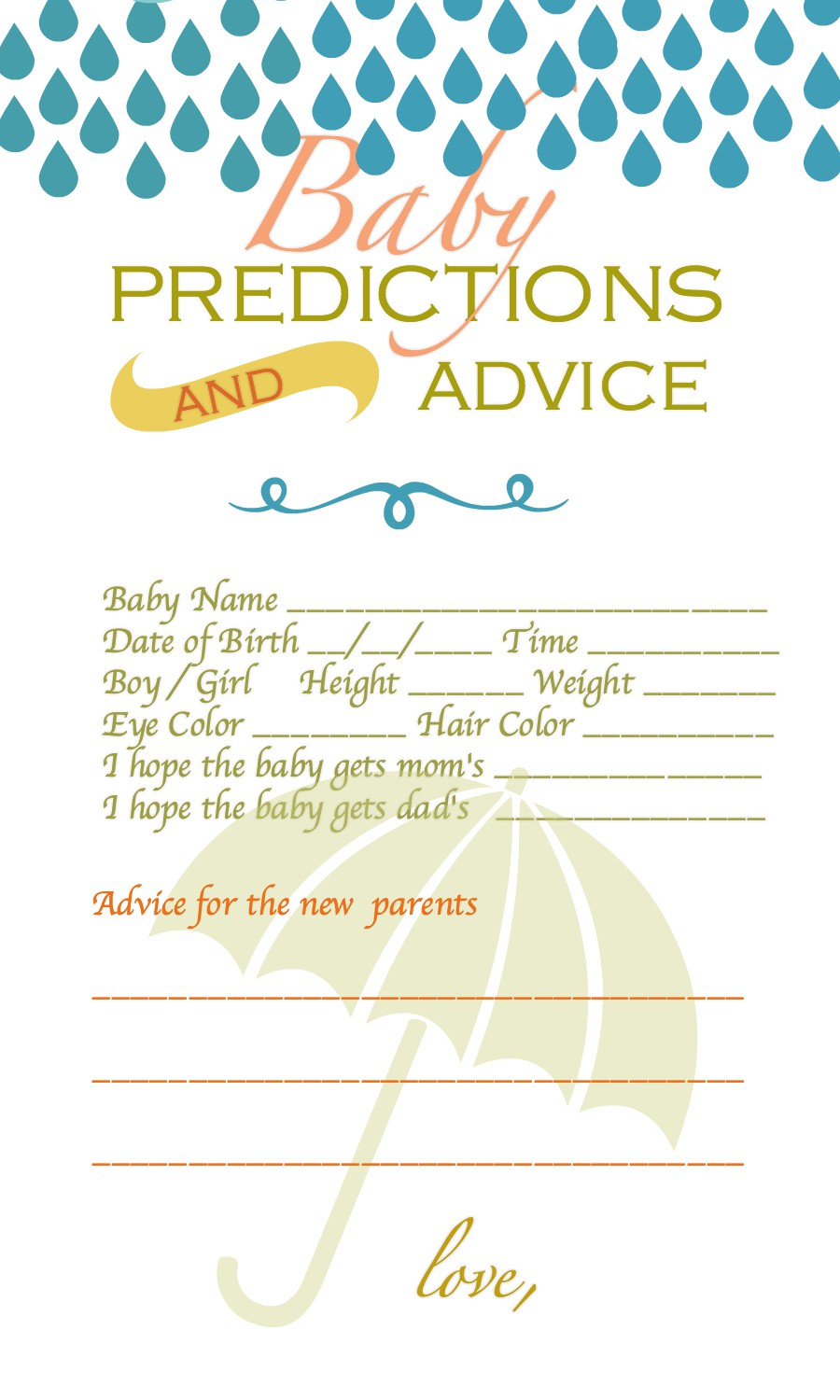 Baby Predictions and Advice