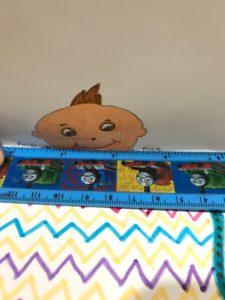 peek a boo - paper toy