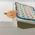 the Z fold for peek a boo paper toy