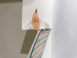 the Z fold for peek a boo paper craft