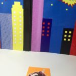 Glue the spiderman sticker to the cardstock