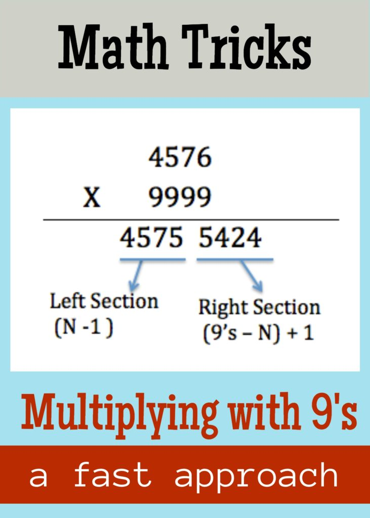 Magic Number 9 – Multiplying with 9's – My World Their Way