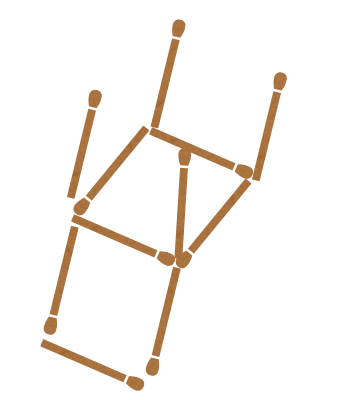 Matchstick Puzzle - changing direction of objects