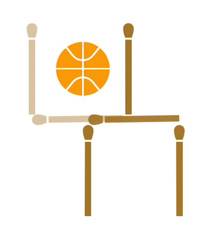 MatchStick Puzzle - Lateral thinking puzzles. Ball outside of the hoop. Ice in a glass