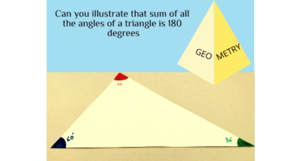 Geometry – Sum of all angles of a Triangle