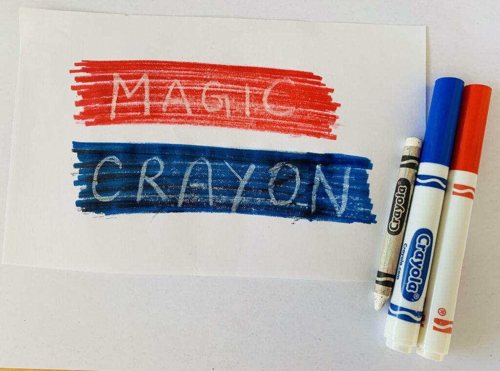 practice Spelling words using water resist art