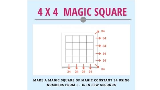 Magic Square – Even Number of Squares