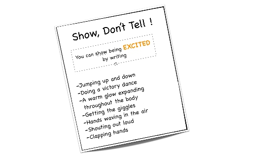 Show Don't tell creative writing - Nervous emotion