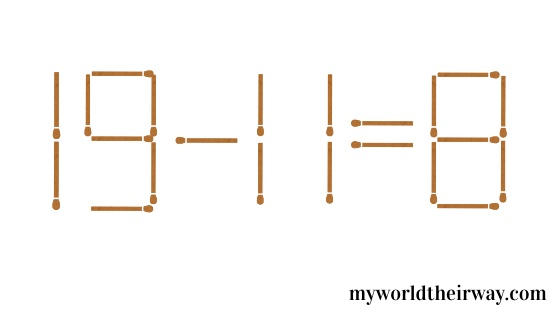 the 8-4=61  puzzle solution