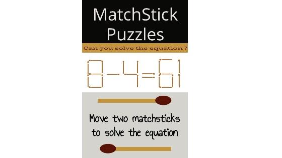 8 – 4 = 61 Matchstick Puzzle
