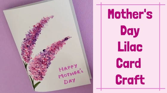 Mothers Day Lilac card craft