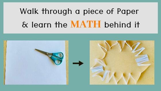 Walk through a piece of paper – the Math behind it