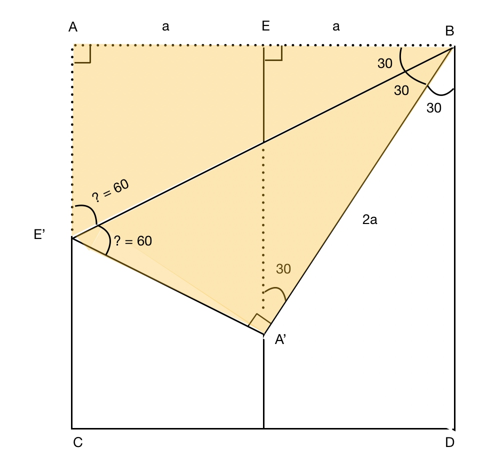 Explaining and proving paper protractor