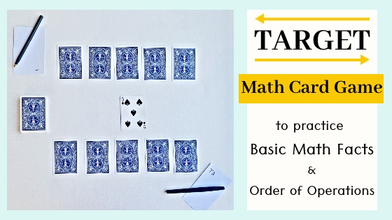 Target math card game blog title