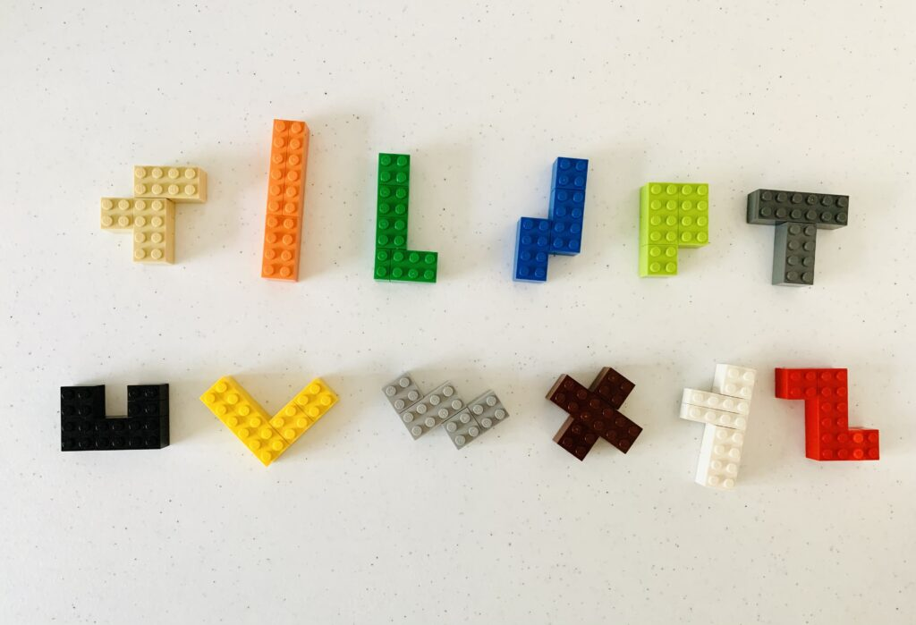 Pentomino Puzzle Pieces