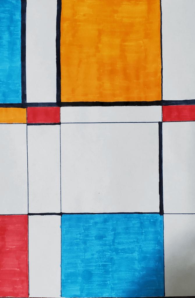 Piet Mondriam Math art