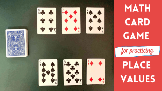 PLACE VALUE GAME – MATH CARD GAME FOR KIDS
